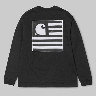【Shopa】現貨 特價 Carhartt WIP 2019 春夏 State Patch 國旗貼布 長袖 T恤 4色