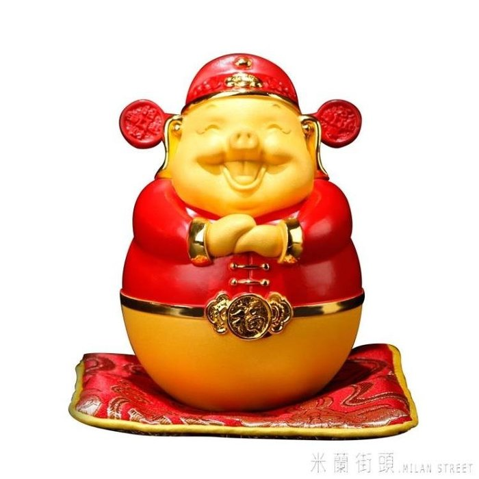 金豬擺件-招財豬金豬擺件大號生肖豬存錢罐豬年客廳酒柜裝飾品擺件開業禮品-大號