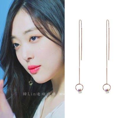 【韓Lin代購】韓國 GET ME BLIN- 明星同款鈦針長耳環 CUBE DROP