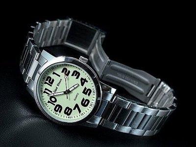 168錶帶配件 /辨識度最高,全不鏽鋼石英錶清晰超大阿拉伯數字刻度!日本japan製石英機心