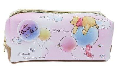 【傳說企業社】筆袋 迪士尼 Disney 小熊維尼 小豬 氣球 雲朵 花 蜜蜂 鉛筆盒包 日本進口正版授權  材質:合成