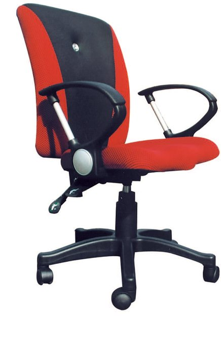 【南洋風休閒傢俱】辦公家具系列-紅氣壓後仰有手辦公椅 辦公書桌椅 (金632-2)