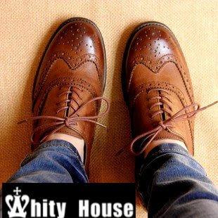 =WHITY=韓國FUPA品牌 韓國製 全真皮時尚名牌LLV英國炫頭設計牛津鞋S3HCC49