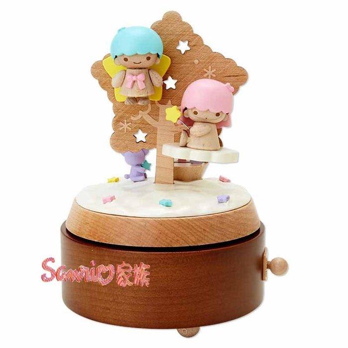 《東京家族》日本KIKILALA雙子星 聖誕樹 木製旋轉音樂盒