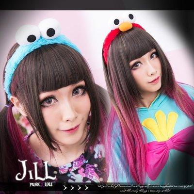 Oo吉兒oO美式蘿莉塔可愛卡通超人氣 毛絨絨 玩偶小精靈造型大眼髮箍 lolita 【JN6302】