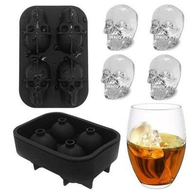 骷髏頭製冰盒【NT049】四連冰球製冰盒 威士卡冰塊製冰器 水信玄餅 模具 製冰器必備