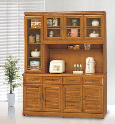 易鵬家具14650a238/4正樟木5.3尺碗櫥櫃全組