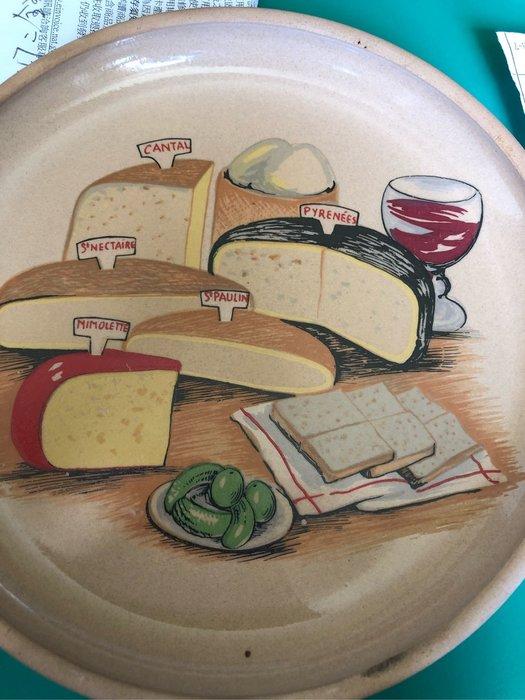 早期法國製品陶盤浪漫早飱麵包,起司蛋糕⋯盤