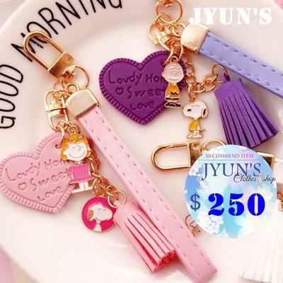 JYUNS 新款SNOOPY史努比卡通少女心合金鑰匙扣吊飾包包挂件掛飾小禮物 2色 現貨