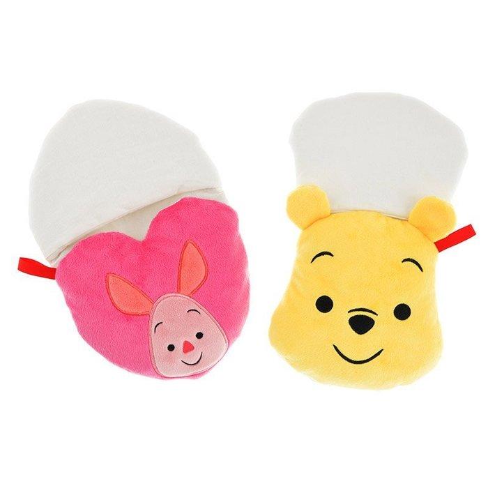 代購現貨  日本東京迪士尼商店 維尼和小豬廚房隔熱套