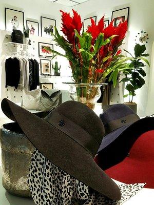 [RainDaniel ] MAISON MICHEL 法國時尚品牌 100%兔毛 BLANCHE 經典黑毛呢紳士帽