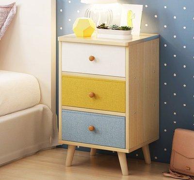 『格倫雅』床頭櫃歐式簡約現代床頭收納櫃簡易床邊小櫃子經濟型^25731