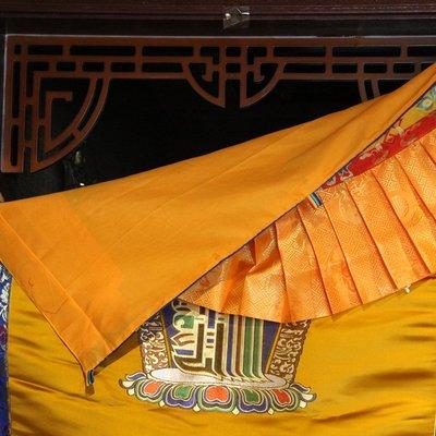 雅朵漫 藏式門簾掛簾吉祥八寶尼泊爾藏式家用加厚西藏民族風十相自在門簾