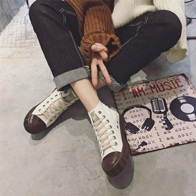 帆布鞋 高筒休閒鞋-韓版街頭個性時尚女鞋子3色73no36[獨家進口][巴黎精品]