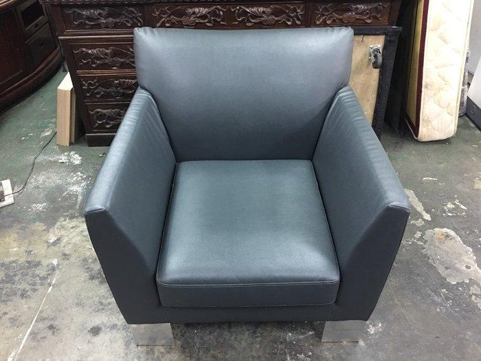 非凡二手家具 電鍍L型腳 單人沙發椅*辦公沙發*洽談椅*會客椅*沙發椅*玄關椅*單人座沙發*躺椅*休閒椅