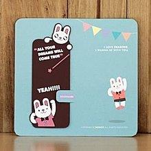 【象牙cute ta】韓國 Bookfriends jumping rabbit-rubber bookmark 書的朋友書籤 跳躍的兔子