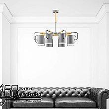 【168 Lighting】內縮彎曲《木藝吊燈》(兩款)8燈GD 20258-1