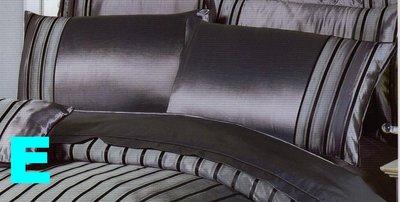 =YvH=PillowCase Silk 鐵灰 粉紅 線條 人造絲緞信封型薄枕套1個 全絲緞 一般枕心用 零碼