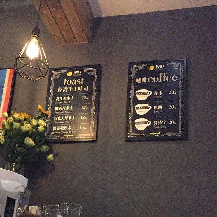 【奇滿來】40*60 cm壁掛式小黑板 餐廳咖啡廳菜單板 黑板牆 相片牆 店面公告 留言板 廣告板 多功能黑板 ABFC