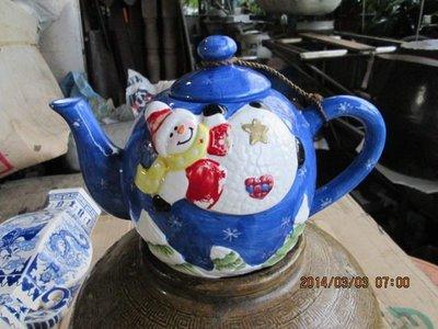 早期 手工繪畫陶瓷茶壺