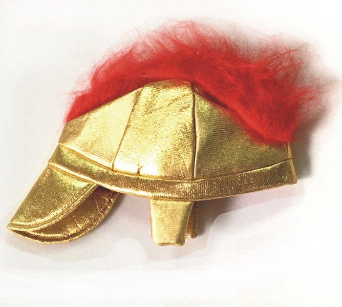 【洋洋小品 金紅武士帽 武士頭盔】萬聖節 聖誕節.cosplay造型舞會表演服裝道具頭飾 圓桌武士裝扮 國王帽