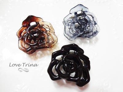 【Love Trina】韓國進口。正韓✈ 6902-0250。縷空玫瑰花小抓夾。小鯊魚夾。髮飾 (4色) 台北市