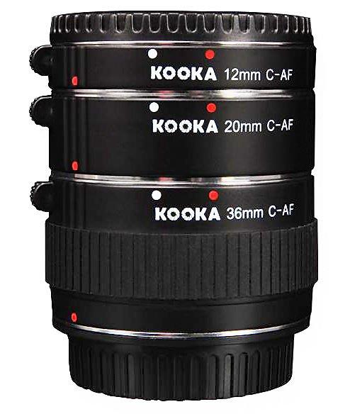 呈現攝影-KOOKA KK-C68 近攝接環組 銅金屬接口 自動對焦接寫環組 Canon EF/ EFs都可用 12/20/36mm