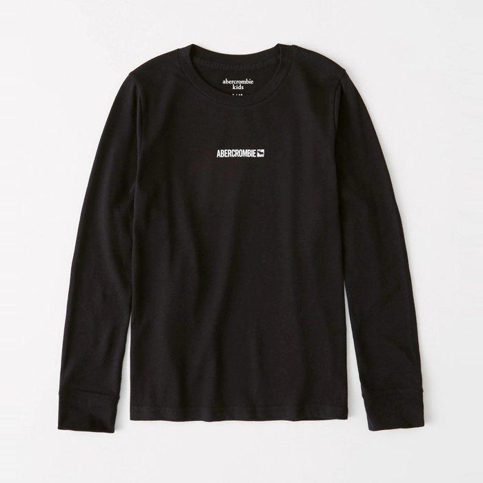 【abercrombie kids】【a&f】af男童款長袖T恤印小白字鹿黑 F07191118-36
