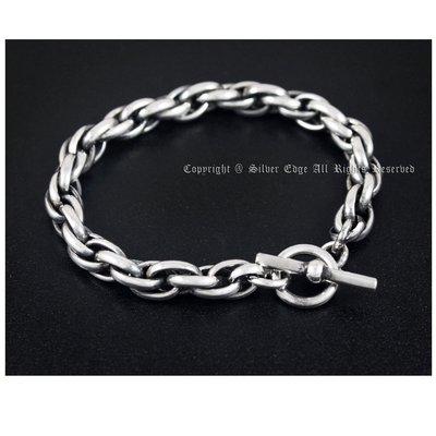 銀革手作 925 純銀 卜線 扭繩 麻繩 手鏈