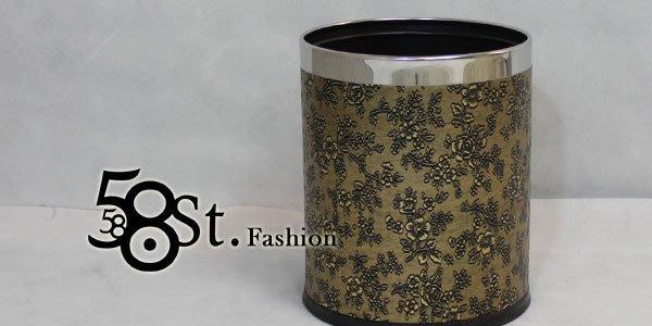 【58街】設計款式「古典花紋皮革製品,廢紙桶、垃圾桶、收納筒」。AF-097