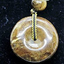 緬甸琥珀 緬甸根珀 黃根蜜白花平安扣(小精品)完整度95%