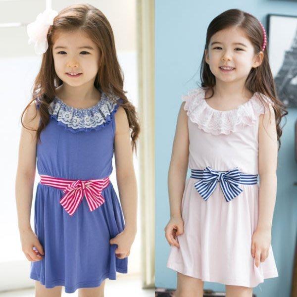 韓版《蝴蝶結束腰款》牛奶絲~清涼洋裝 (J3-2)