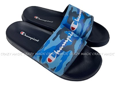 CHAMPION 拖鞋 運動拖鞋 迷彩 水藍深藍 男女都有 # 913250293