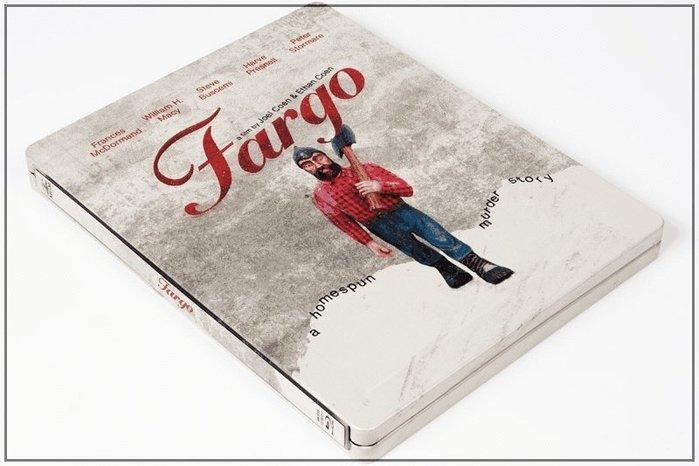 【BD藍光】冰血暴 4K母帶重製版:限量凹凸框字體鐵盒版Fargo(台灣繁中文字幕)