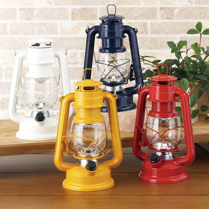 《預購》復古煤油燈造型 乾電池式 LED提燈 夜燈 緊急照明燈~可調節亮度~附收納袋~日本正品~共5色~心心小舖