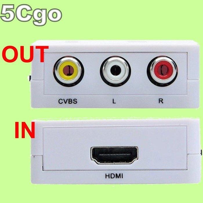 5Cgo【現貨】HDV-M610 HDMI轉AV RCA HDMI2AV NTSC PAL車用/手機/平板/電視 含稅