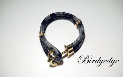 BIRDYEDGE 蛇皮 船苗 手環 手鍊 皮革 雙層 堅固 情人/母親節/情侶/穿搭/單品/設計/一對/父親/潮流