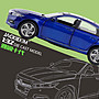 玩具車JK1/32本田雅閣10代聲光回力六開門仿真金屬合金車模型兒童玩具車