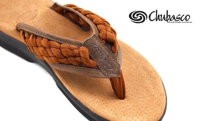 GOODFORIT / 美國Chubasco Santiago Sandals古老皮帶飾紋橡膠手工編織涼拖鞋