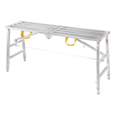140*30折疊多功能加厚裝修便攜馬凳刮膩子升降腳手架工程梯子平臺凳igo