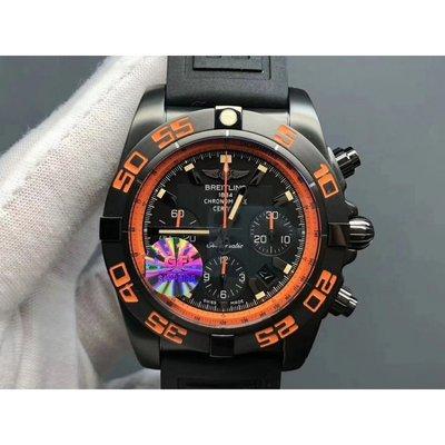 Breitling 百年靈 GF 黑鷹 Chronomat 44 Raven 7750 機芯 機械錶男士腕錶 精品