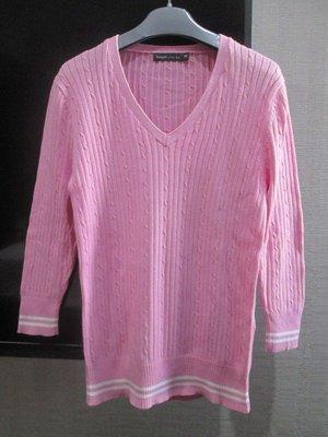專櫃粉紅色AF AE GAP E-WEAR款100%棉質針織上衣S號