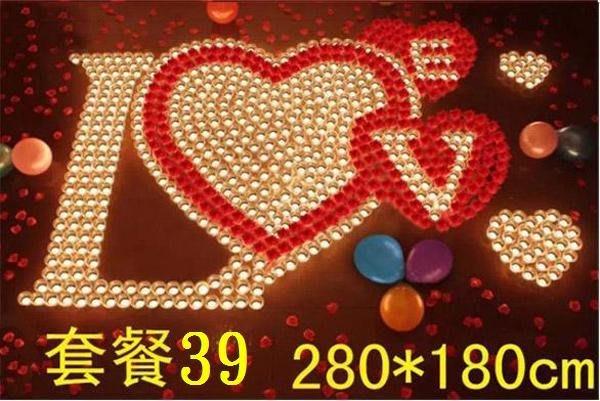 ☆創意小物店☆ 心型套餐NO:39 /排字蠟燭/求婚蠟燭/生日蠟燭/情人節禮物 浪漫表白必備