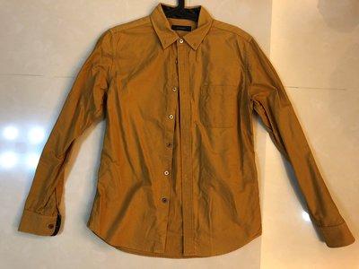 ︱Coopers︱日本 RAGEBLUE 薑黃/土黃 素面牛津 Oxford 襯衫 Size: M