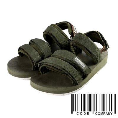 =CodE= PALLADIUM OUTDOORSY SANDAL 魔鬼氈厚底涼鞋(綠) 75652-325 軍靴 女
