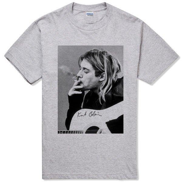Kurt Cobain Ciggy#3短袖T恤-2色 NIRVANA 街頭滑板潮流搖滾樂團超脫 390