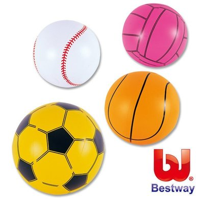 金潮派-Bestway 16吋運動充氣沙灘球/海灘球/水球*隨機出貨*(69-30054)