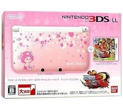 御玩家全新 3DSLL航海王:無限世界RED同捆機 喬巴粉