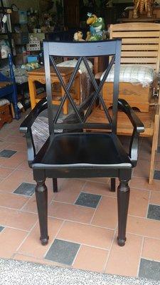 美生活館 全新美式鄉村風格 扶手椅 書椅 洽談椅 辦公椅 會客椅 公婆椅 原木刷就破壞式處理 絕版限量出清 僅有3+1只