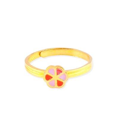 【JHT 金宏總珠寶/GIA鑽石】0.79錢 粉色幸運草黃金戒指 (請詳閱商品描述)